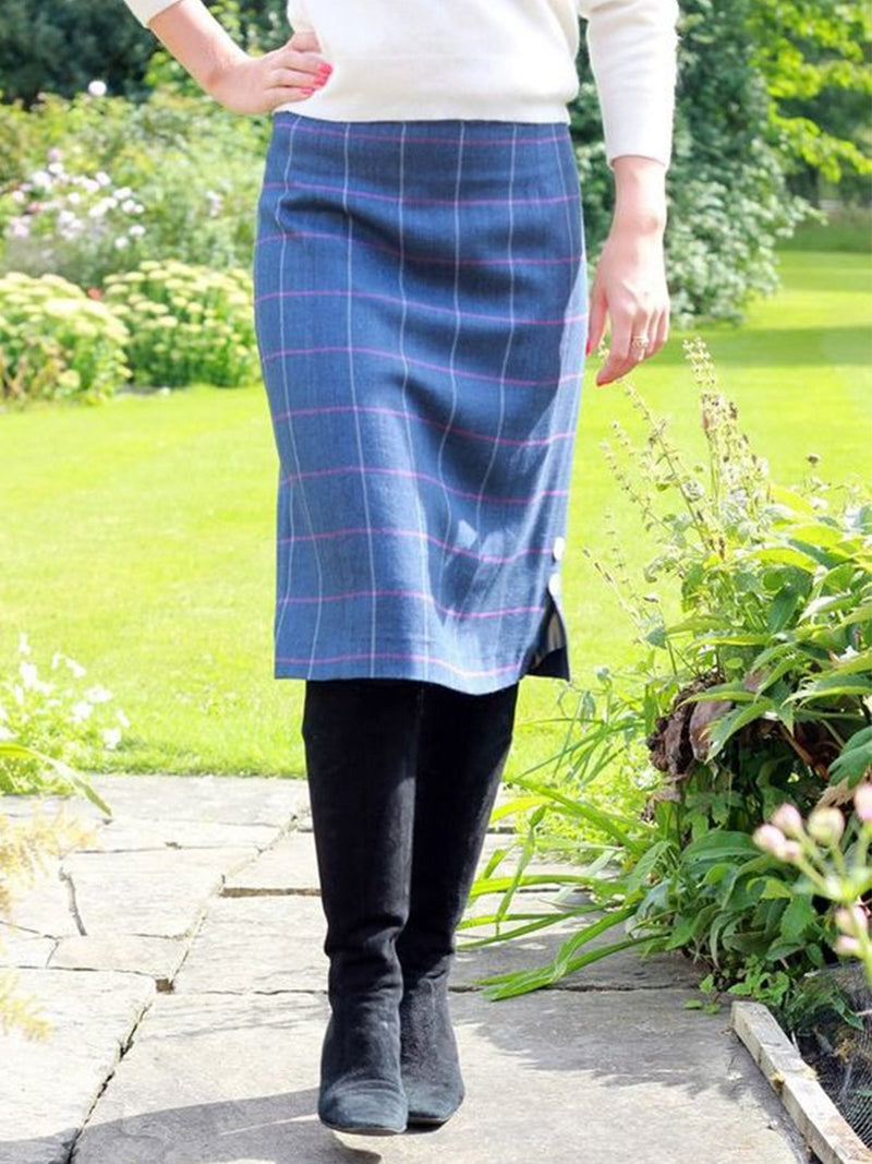 Vintage Plaid Printed Plus Size Casual Skirts