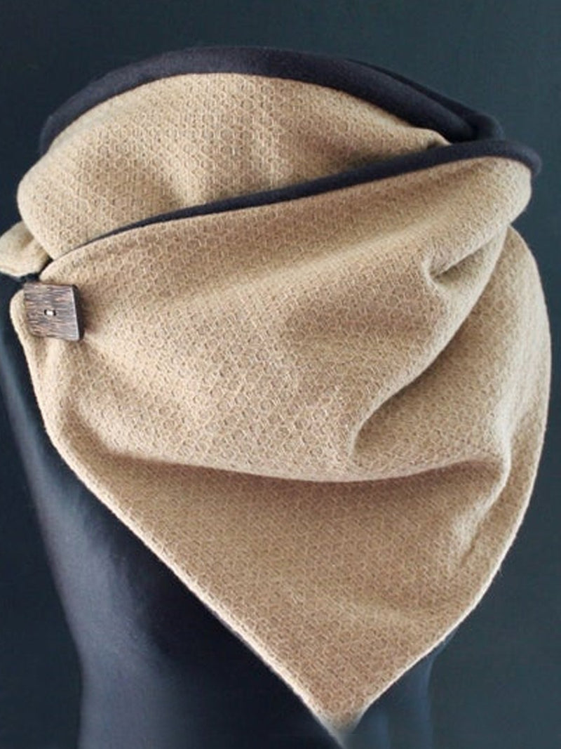 Khaki Casual Cotton-Blend Scarves & Shawls