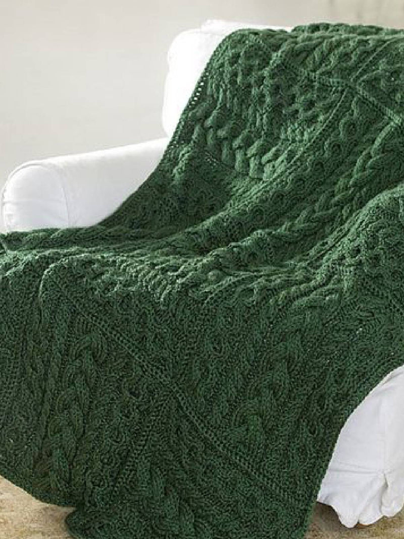 Green Knitted Casual Scarves & Shawls