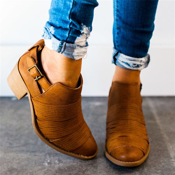 Women Classic Ankle Booties Casual Comfort Plus Size Shoes