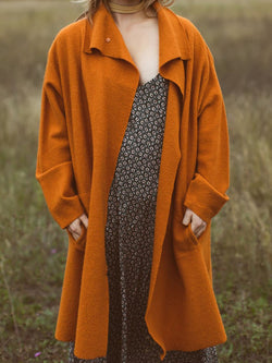 Plus size autumn woolen coat Casual Cotton Outerwear