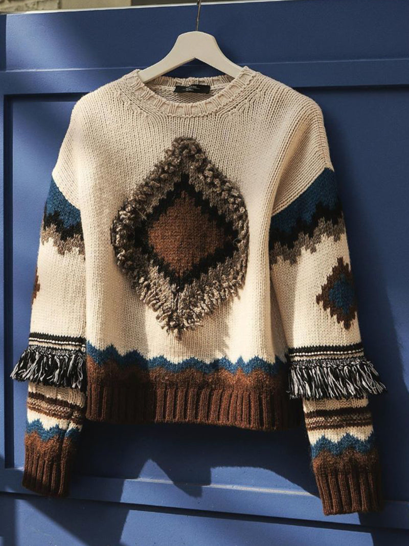 Plus Size Vintage Long Sleeve Sweater