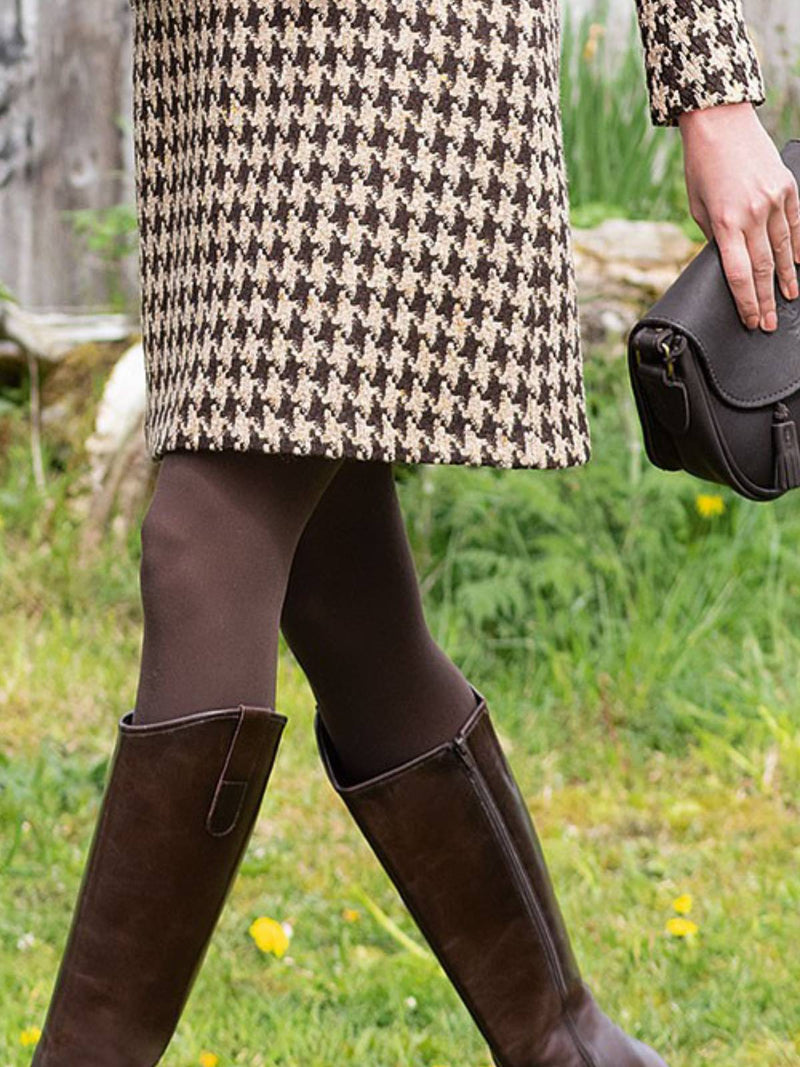 Cotton-Blend Plaid Casual Skirts