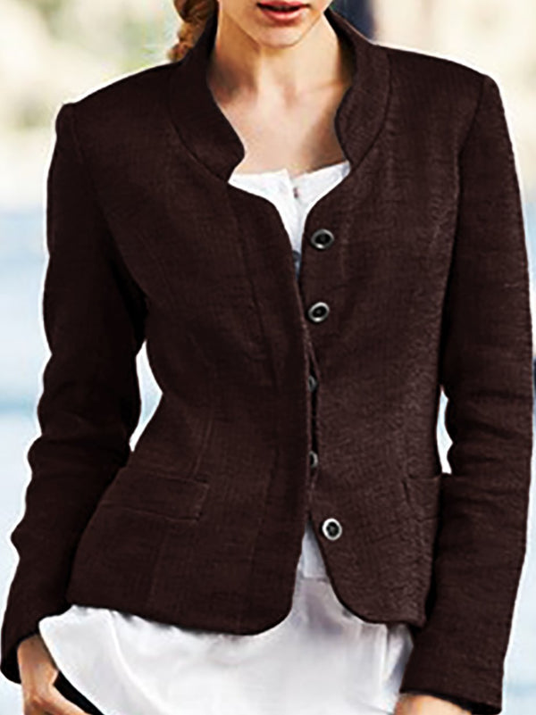 Shift Lapel Long Sleeve Jackets