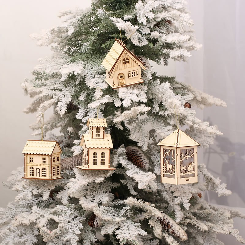Christmas wood decoration