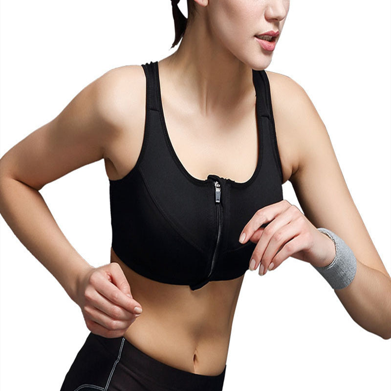 Durable Wireless Push Up Zipper Bra