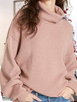 Shift Turtleneck Solid Casual Sweater