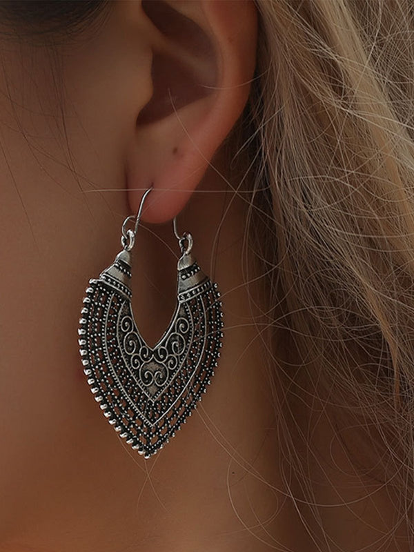 Hollow Boho Ethnic Carved Earrings