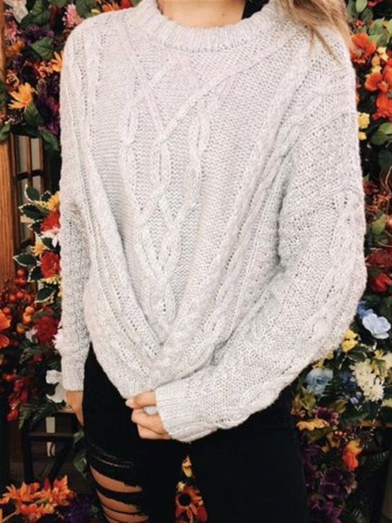Autumn Winter Casual Basic Knitted Sweater
