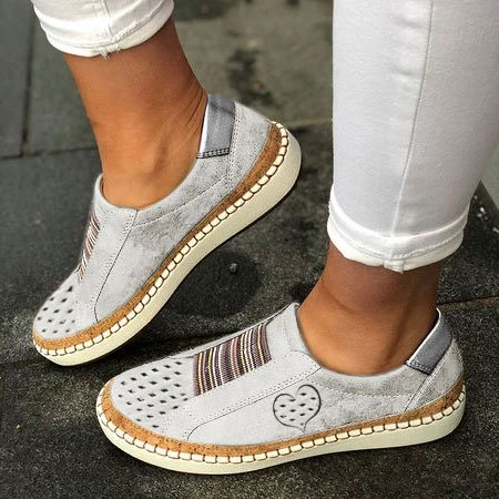 All Season Pu Flat Heel Sneakers