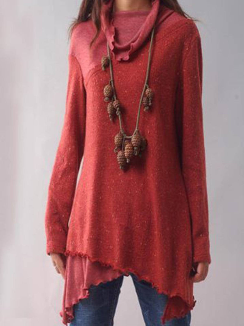 Red Cotton Casual Shirts & Tops