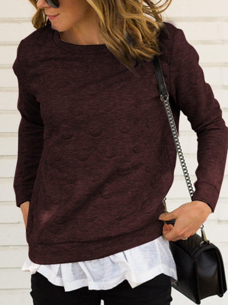 Long Sleeve Round Neck Shirts & Tops