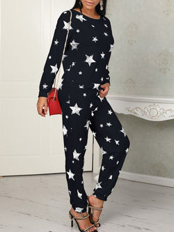 Star Cotton-Blend Casual One-Pieces