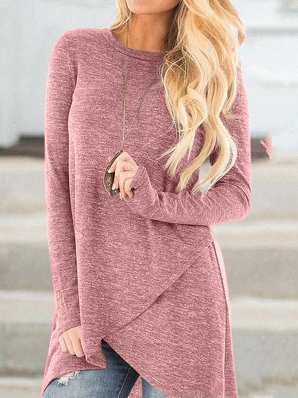 Casual Crew Neck Long Sleeve T-Shirts