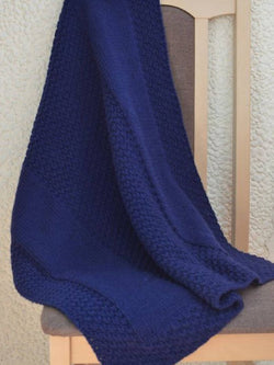 Blue Cotton-Blend Scarves & Shawls