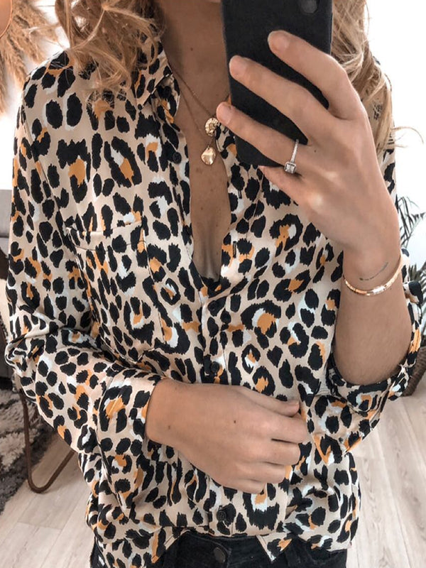 Leopard Long Sleeve Shirts & Tops