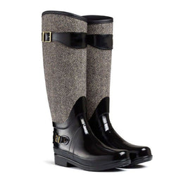 Low Heel Patchwork Waterproof Boots