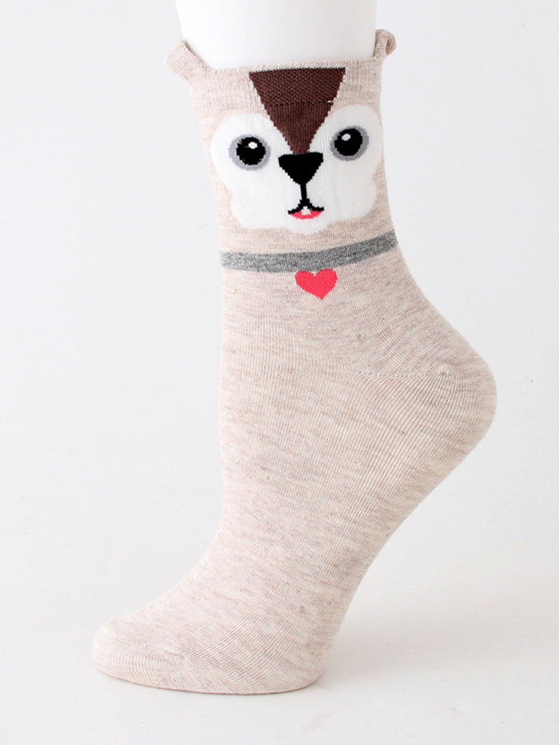 Warm Cartoon Animal Socks