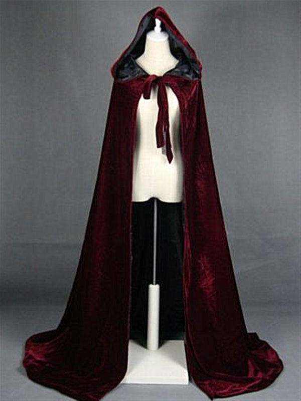 Autumn Casual Vintage Red Velvet Oversize Long Coat