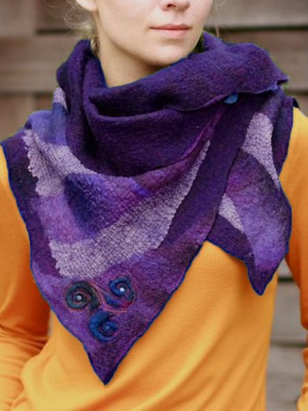 Casual Color-Block Scarves & Shawls