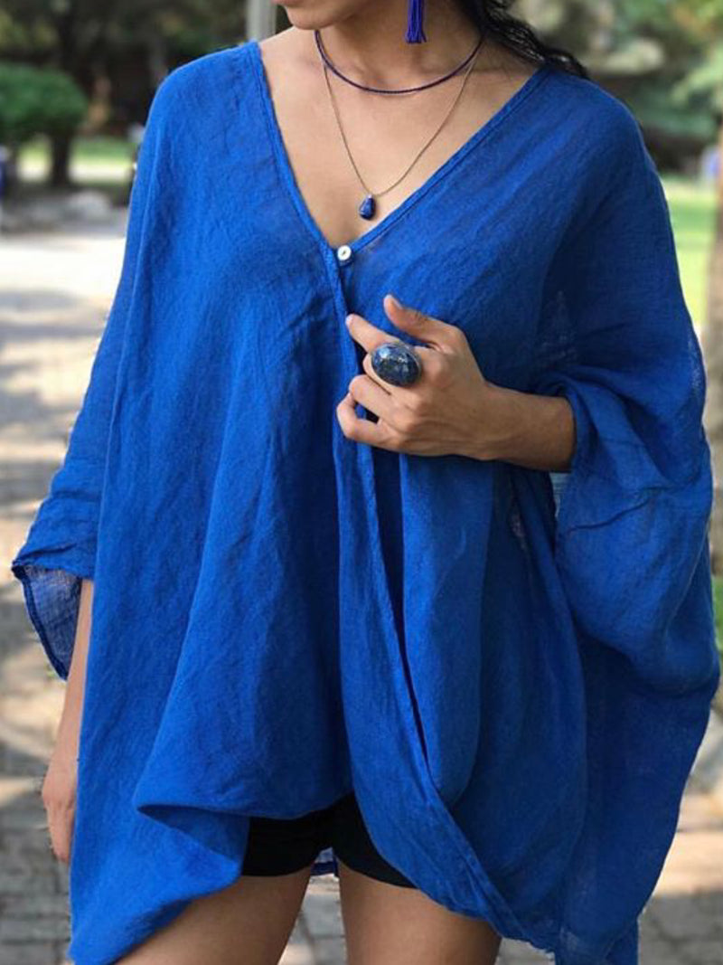 Women Casual Tops Tunic Oversized Blouse Shirt