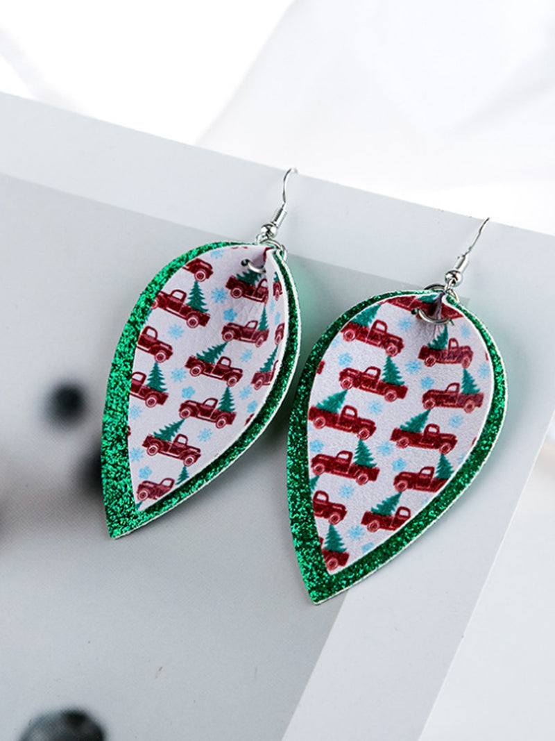 As Picture Leaf Earrings