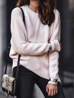 Pink Casual Round Neck Shirts & Tops