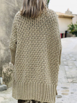 Plus size autumn knit cardigan Casual Cotton Sweater