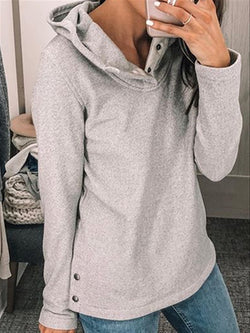 Autumn Casual Daily Basic Cotton Long Sleeve Cotton Hoodie Top
