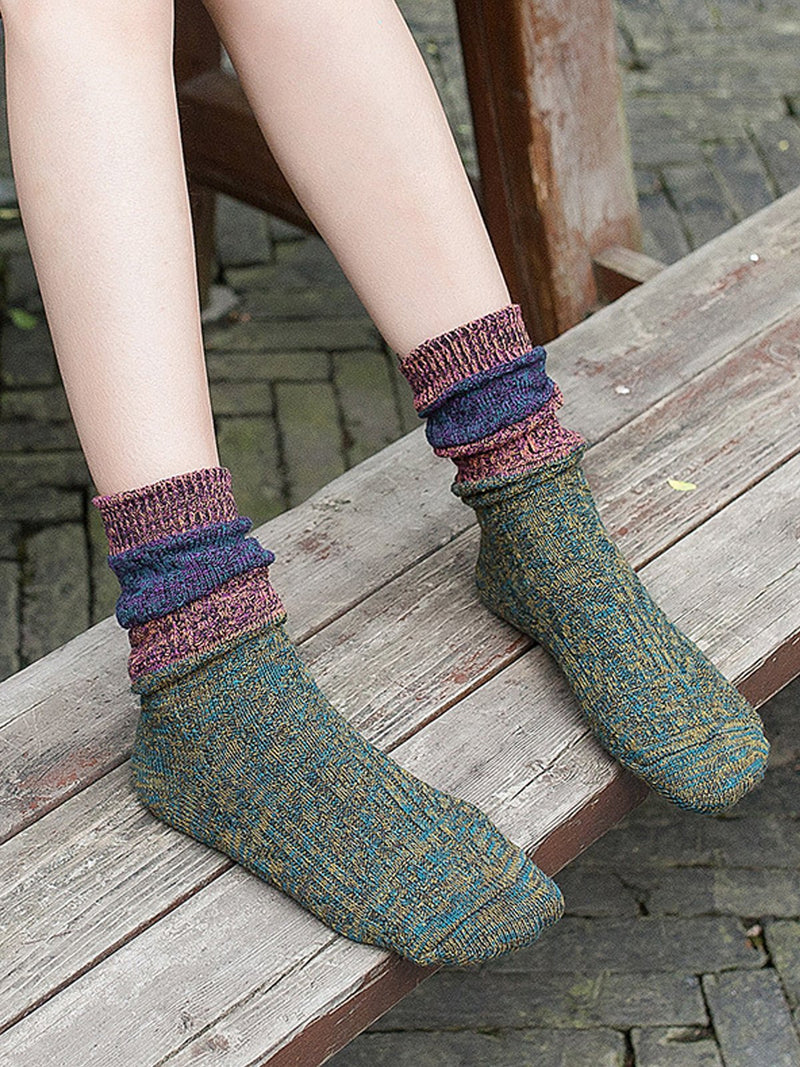 Vintage Warm Cotton Sock