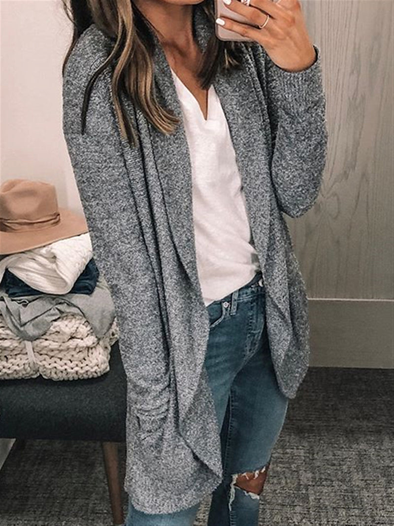 Autumn Casual Basic Daily Knitted Coat