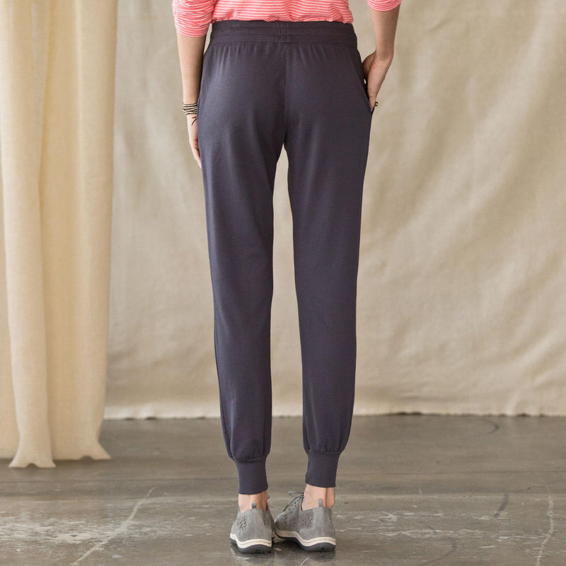 Deep Blue Casual Plus Size Soft Stretchy Pants