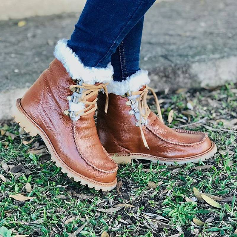 Plus Size Casual Winter Lace up SnowBoot