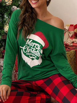 Printed Party Letter Christmas Suits