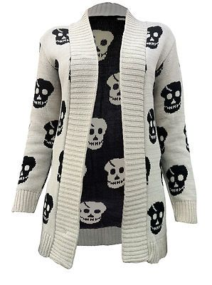 Punk plus size Knitted  Vintage Outerwear