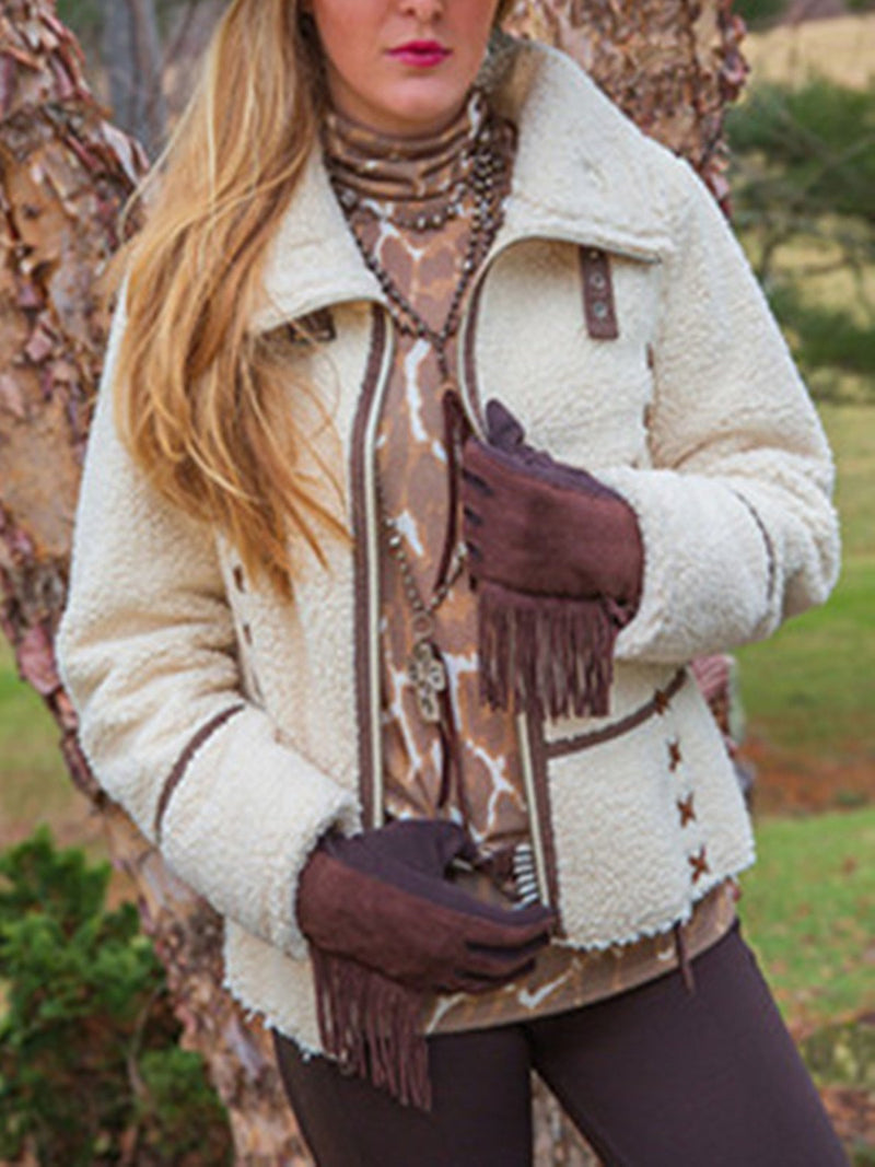 Faux Fur Casual Outerwear