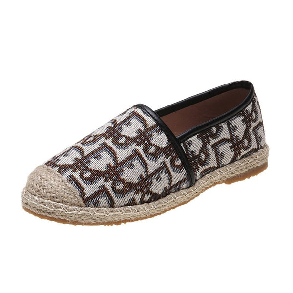 Pi Clue Date Printed Flat Heel All Season Loafers