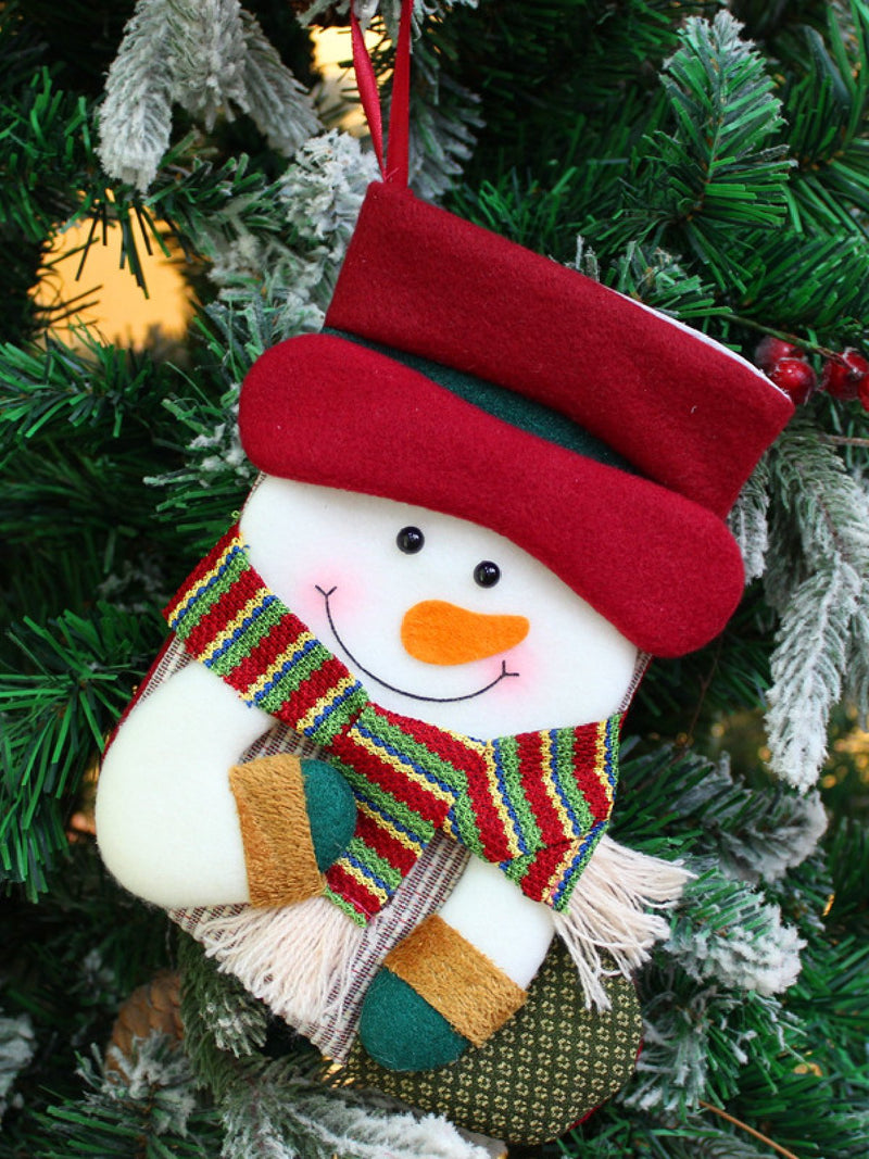 Xmas Christmas Stocking Santa Snowman Reindeer Stocking Decorations
