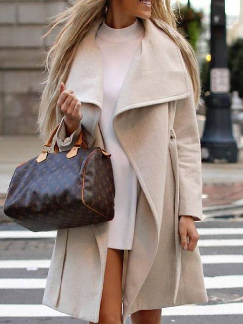 Apricot Cotton-Blend Long Sleeve Outerwear