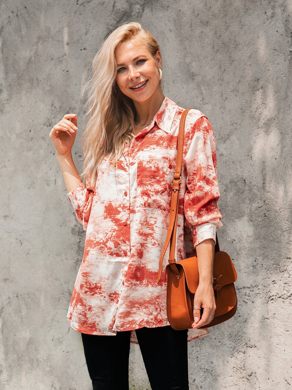 Floral-Print Long Sleeve Shirts & Tops