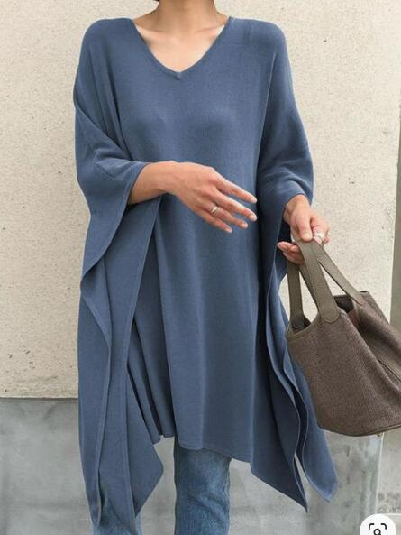 Women V Neck Casual Long Sleeve Shirts & Tops
