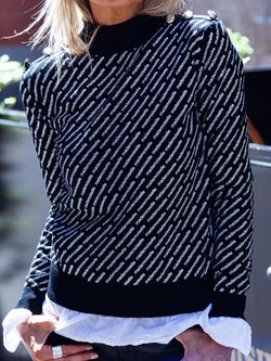 Long Sleeve Round Neck Casual Sweater