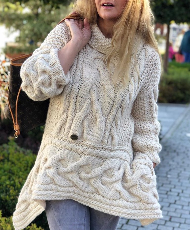 Plus Size Turtleneck Solid Casual Long Sleeve Sweater