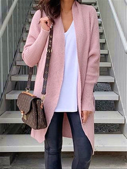 Autumn Winter Casual Basic Daily Warm Knitted Long Coat