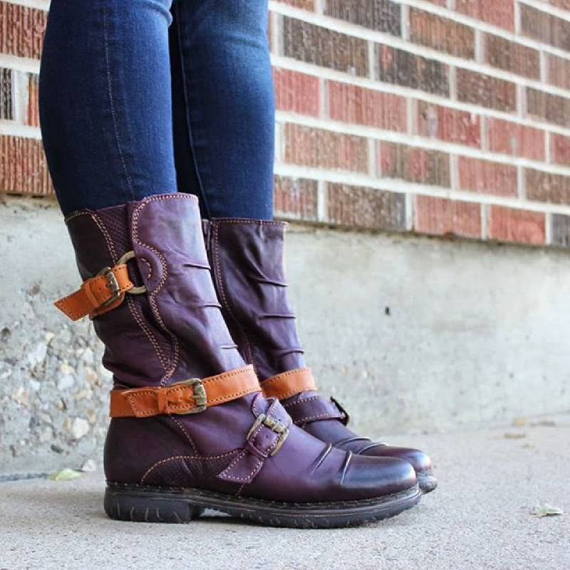 Adjustable Buckle Casual Knight Boots For Women