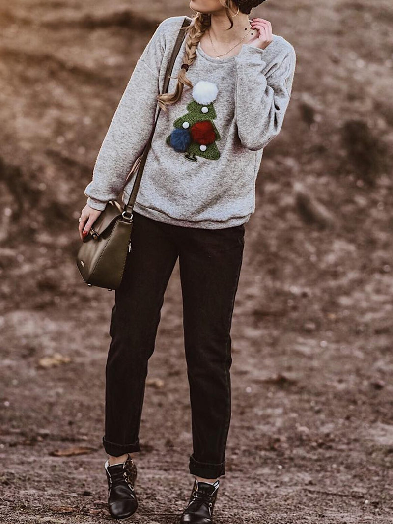 Plus size christmas Casual Sweatshirt