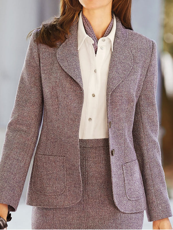 Holiday Long Sleeve Shift Lapel Jackets