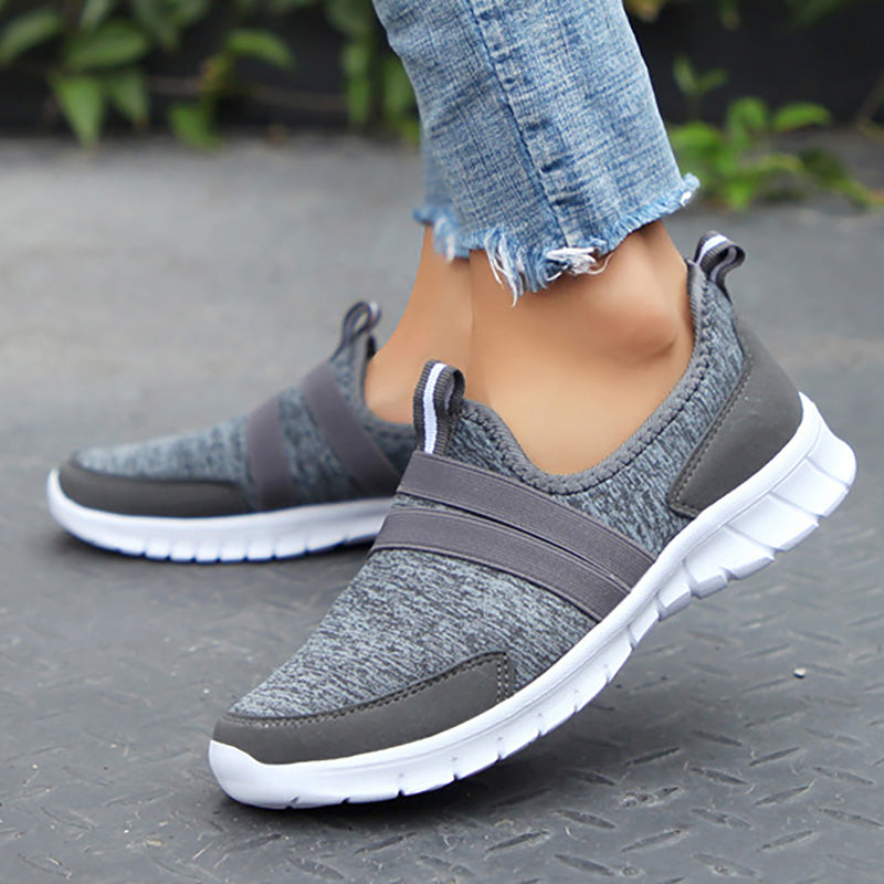Women Cotton Fabric Sneakers Casual Comfort Plus Size Sport Shoes