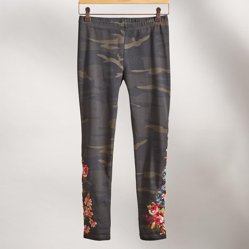 Navy Blue Casual Printed Floral Plus Size Pants