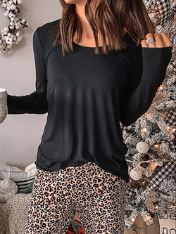 Casual Basic Daily Plus Size Crew Neck Top